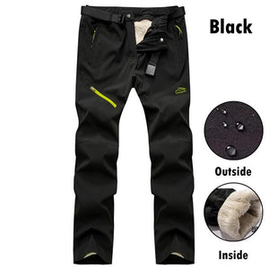 Kaaum Autumn Winter Mens Cargo Pants With Fleece Tactical Pants
