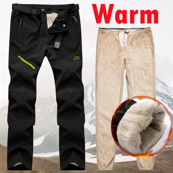 2020 Autumn Winter Mens Cargo Pants With Fleece Tactical Pants