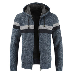 Kaaum Winter Thick Warm Hooded Cardigan Sweater Coat