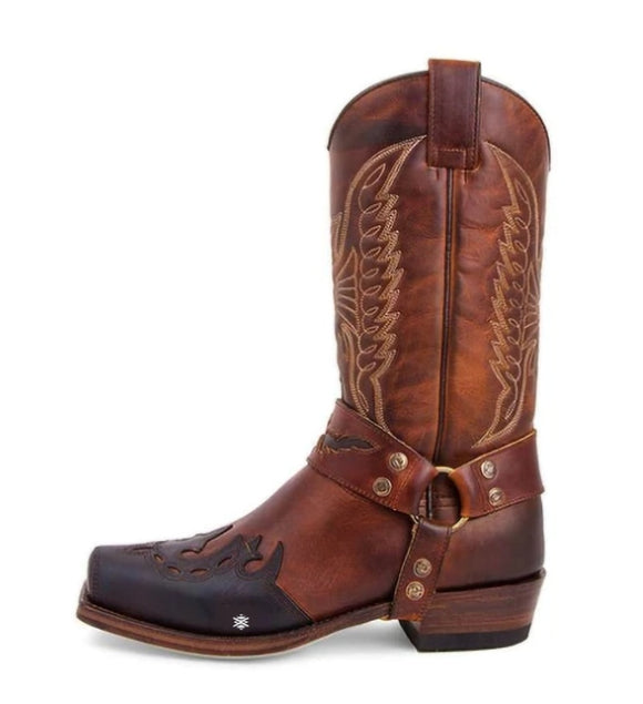 Kaaum Outdoor Cowboy Retro Leather Boots(Buy 2 Got 10% off, 3 Got 15% off Now)