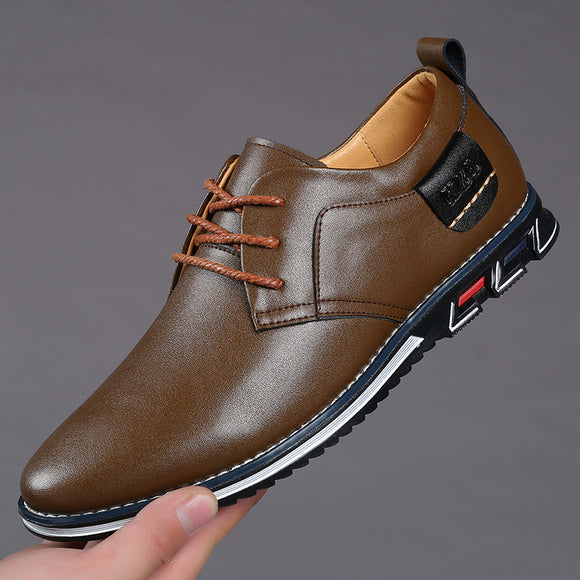 2020 Men's New Big Size Oxfords Leather Shoes