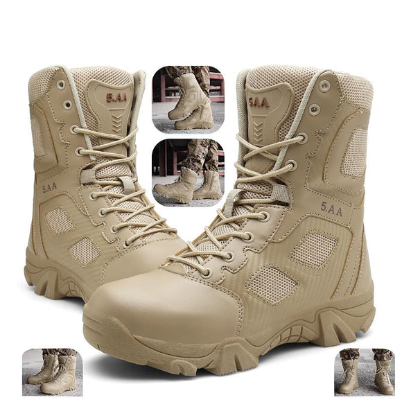 Kaaum New Desert Tactical Mens Genuine Leather Boots