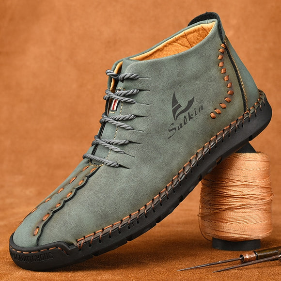 Kaaum New Fashion Men's Handmade Leather Boots