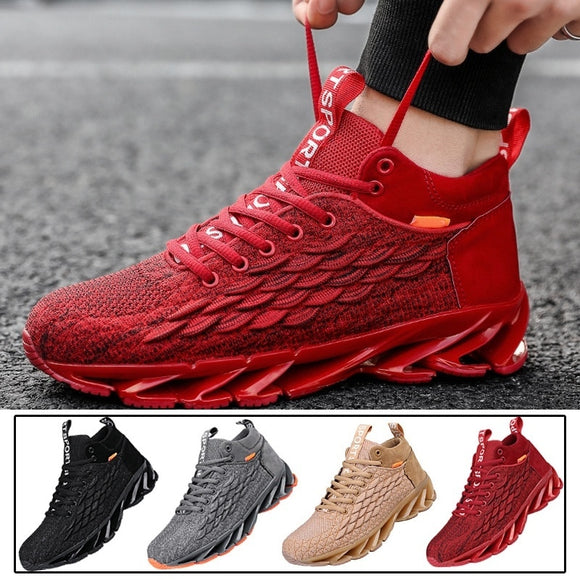 Kaaum 2020 Lace-up Fire Platform Jogging Sneakers