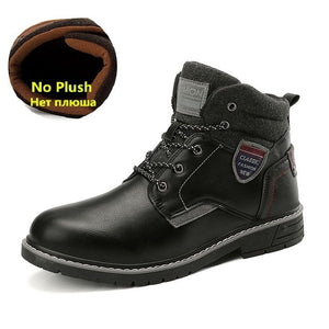 2020 New Warm Leather Waterproof Outdoor Ankle Boots(Buy 2 Got 10% Off, 3 Got 15% Off)