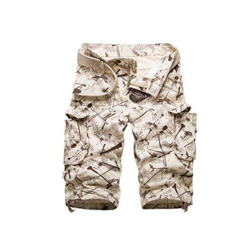Kaaum 2020 Men's Camouflage Camo Work Shorts