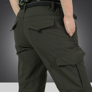Kaaum 2020 Winter Cargo Pants With Fleece Jogger