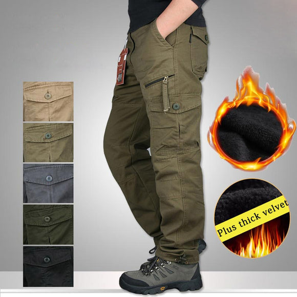 Kaaum Winter Tactical Pants Men Military Trousers