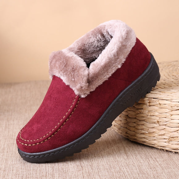 Women Plush Soft Sole Light Snow Boot
