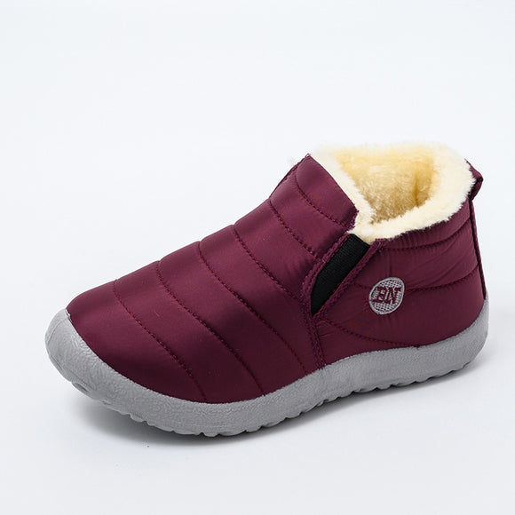 2020 Winter Warm Plush Ladies Flat Casual Shoes