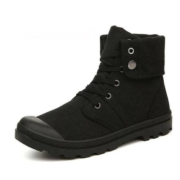 Autumn Winter Fashion High-top Canvas Ankle Boots