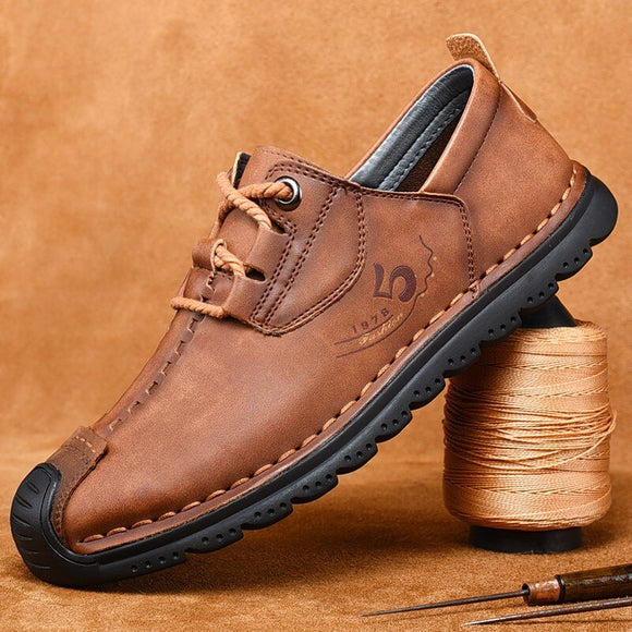 Kaaum Large Size Handmade Soft Leather Driving Shoes