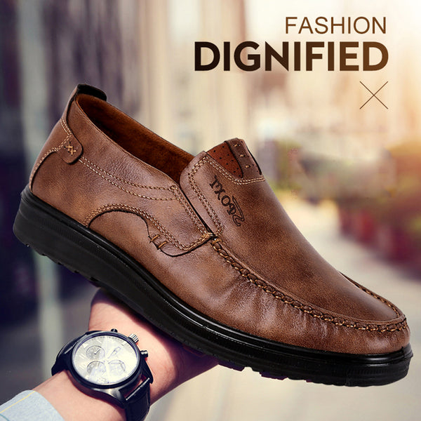 Men's Shoes Fashion Leather Slip On Casual Style Shoes
