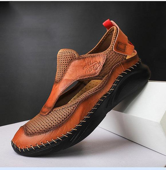 MEN'S SUMMER BREATHABLE LEATHER SANDALS