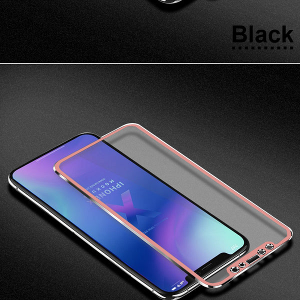 6D Aluminum Alloy Tempered Glass For iphone 6 6s 7 8 Plus X
