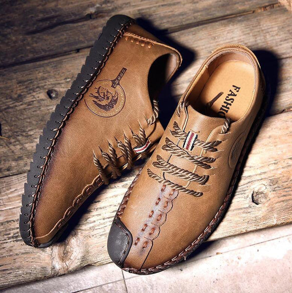 2018 HOT SALE BRAND Gentleman Classical Retro Casual Leather Shoes