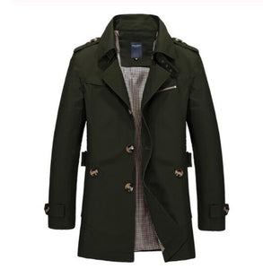 Kaaum Men's High Quality Trench Coat