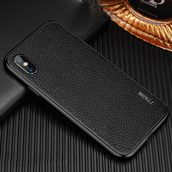 Luxury Metal Frame Genuine leather Case For iPhone