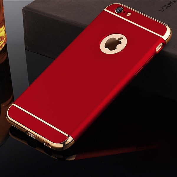 Phone Case - Luxury Electroplating 3 In 1 Full Protection Phone Case For iPhone X/XS/XR/XS Max