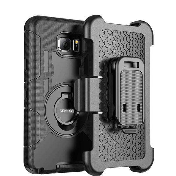 Phone Accessories - 3 in 1 Military Belt Clip Stand Armor Shockproof Case