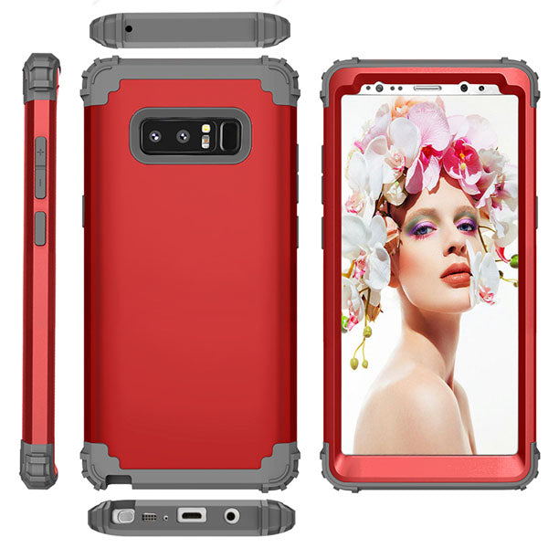 3 in 1 TPU & PC Hard Phone Cases For Samsung Galaxy S8 S8 Plus Note 8