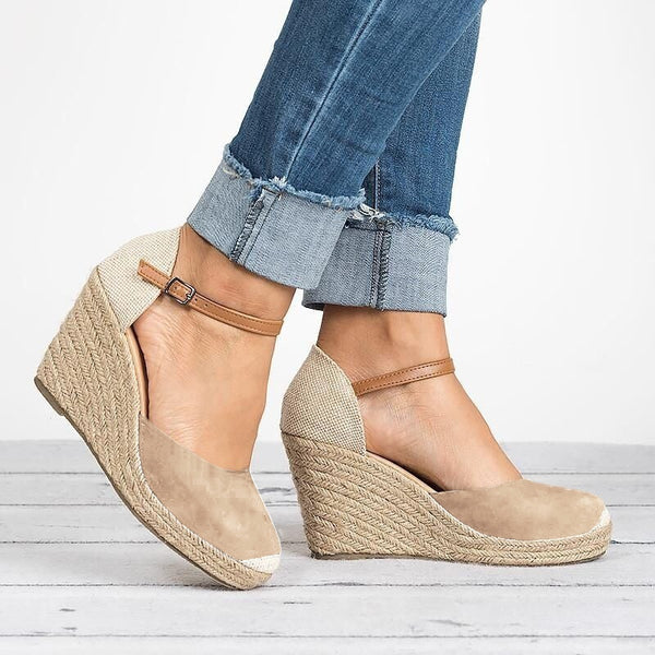 12894b19883 Shoes - 2018 Fashion Summer Women Wedge Espadrilles Casual Buckle Strap High  Heel Shoes