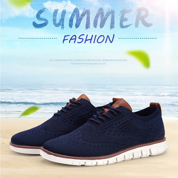 Kaaum Casual Knitted Mesh Men Soft Sneakers Shoes