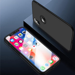 Phone Accessories - Luxury Protective Case With Tempered Glass Film For iPhoneX XS MAX XR 8 7