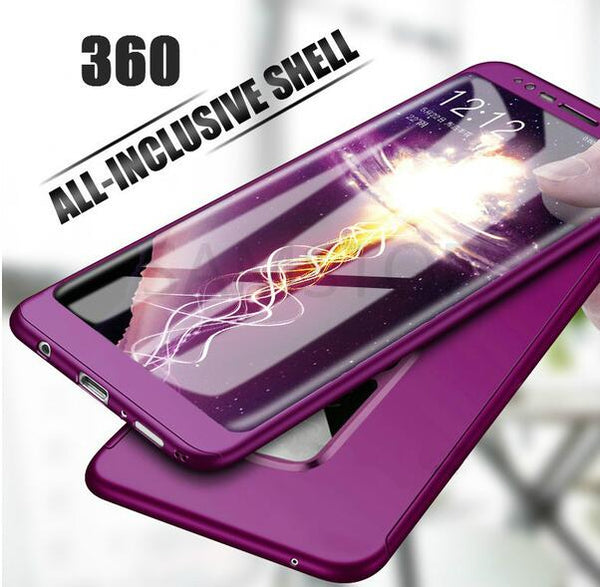 premium selection 9f650 73afb Phone Case - Luxury 360 Degree Full Cover Case With Screen Protector For  Samsung Galaxy S9/S8 Plus Note 8