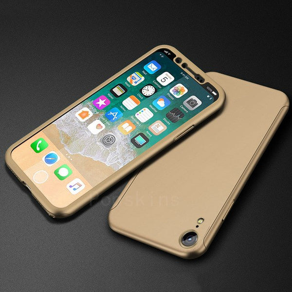Phone Case - Luxury 360 Full Cover Protective Phone Case For iPhone XS/XR/XS Max 8/7 Plus