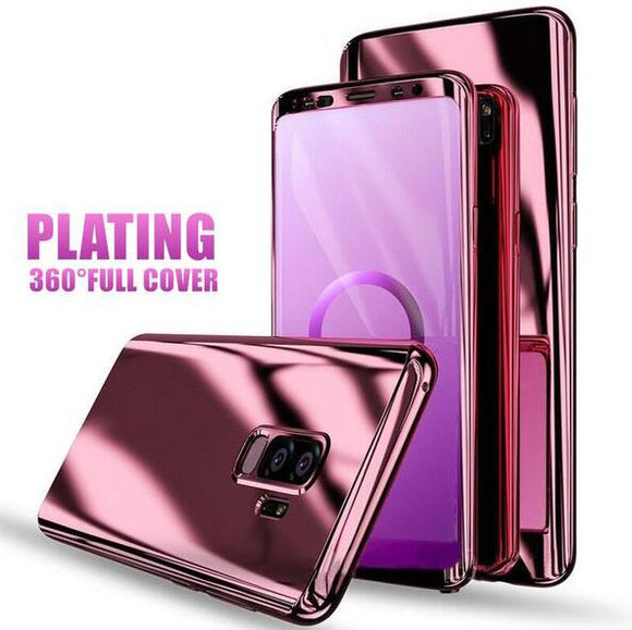 Phone Case - Luxury Ultra Thin Bling Mirror 360 Full Protection Cover For Samsung Note 8 S8 S8+ S7 S7Edge