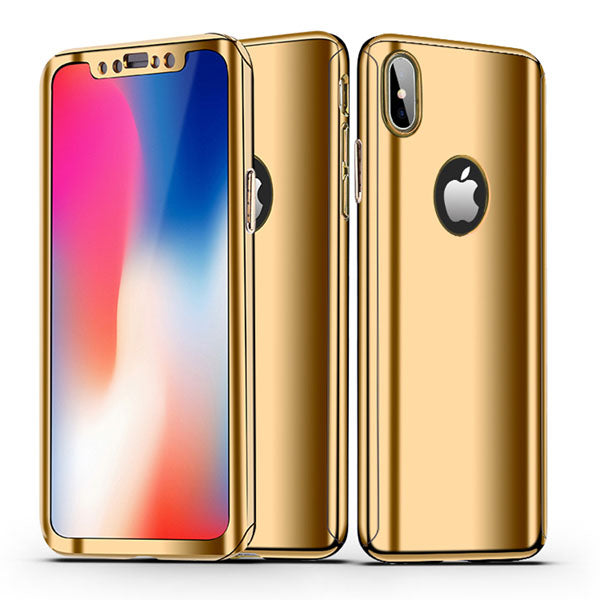 new concept 87e0e bfe1c Phone Case - 360 Full Protection Plating Mirror Case For iPhone XS/XR/XS  Max X 8 7 6 5 + Free Screen Protector Film( Buy One Get One 20% Off )