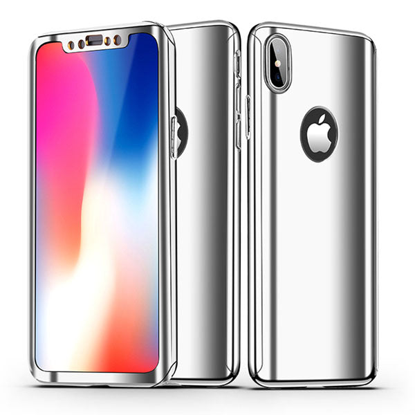 Phone Case - 360 Full Protection Plating Mirror Case For iPhone XS/XR/XS Max X 8 7 6 5 + Free Screen Protector Film( Buy One Get One 20% Off )