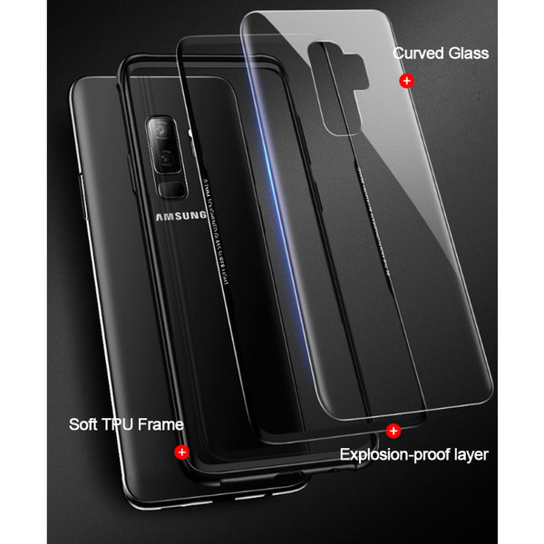 Phone Accessories - 3D Curve Tempered Glass Case for Samsung Note 9 S9 S9 Plus