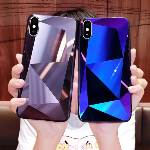 timeless design 1fe35 b1bdb Phone Accessories - Luxury 3D Diamond Reflective Phone Case for iphone 7 8  8 Plus X XS XS MAX XR