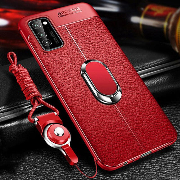 Leather Case With Magnetic Ring And Free Strap Samsung Galaxy