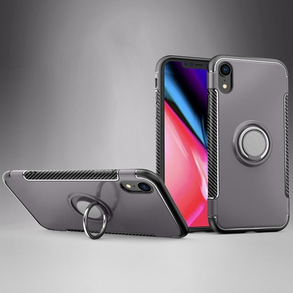 360 Magnetic Stand Silicone Case for iphone X XS XR XS MAX
