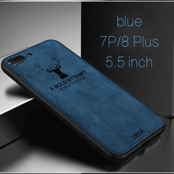 Luxury Cloth Shockproof Deer Case For iPhone XS X XR 6 6S 7 8 Plus For iPhone