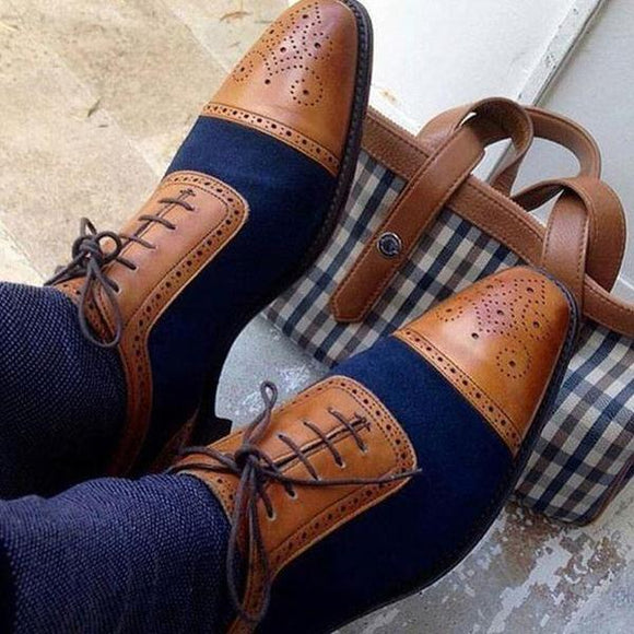 Men's Shoes - 2019 New Spring Pointed Toe Lace Up Men Shoes