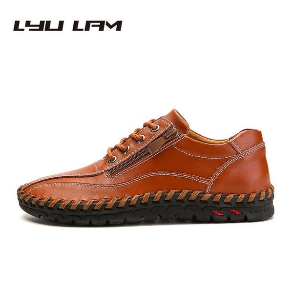 Men's Shoes - Fashion Breathable Genuine Leather Men Shoes