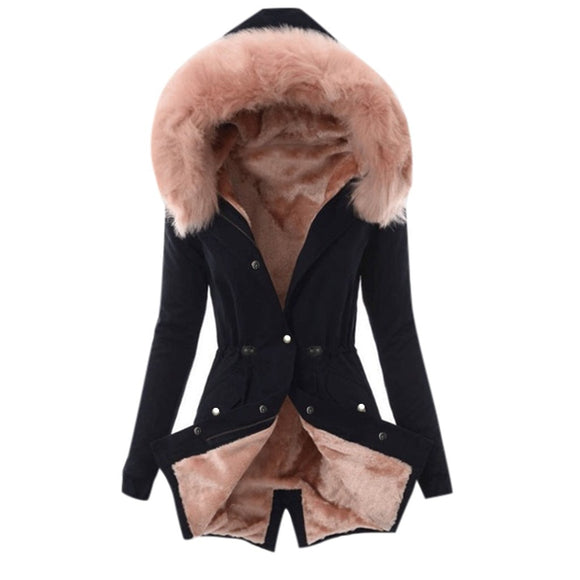 Womens Winter Warm Thick Long Jacket Hooded coat