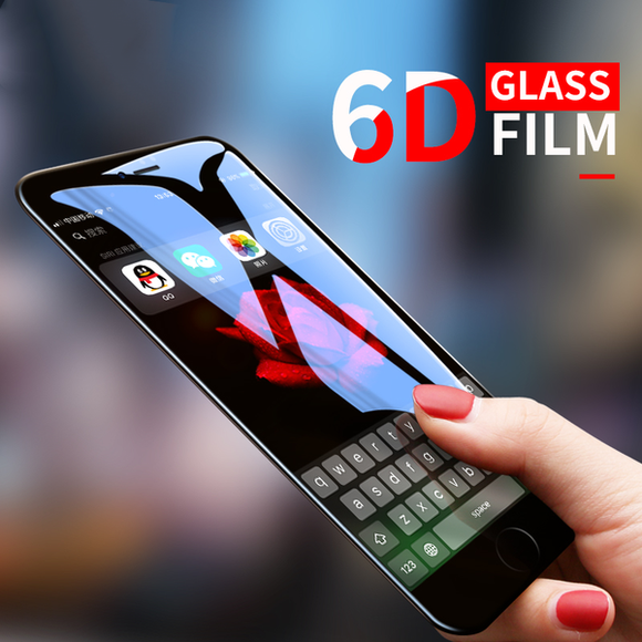 6D Cold Carving Etched Curved Tempered Glass For iphone