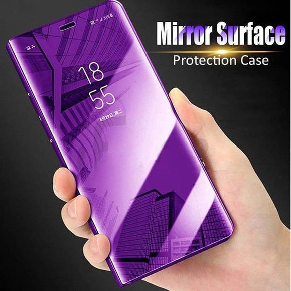 Smart Mirror Flip Phone Case for Samsung Galaxy Note 9 8 S8 S9 Plus