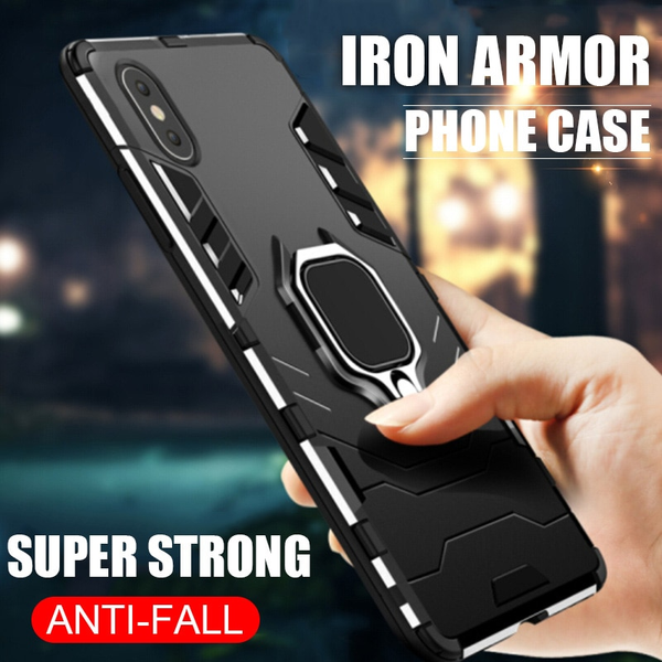 Heavy Duty Anti-knock Cover With Holder For iPhone X XS XR XS Max