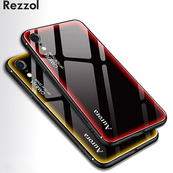 Colorful Edge Tempered Glass Case For iPhone X/XR/XS Max