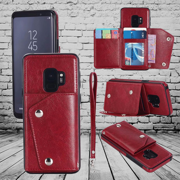 2019 Wallet Flip Leather Case For Samsung Galaxy S7 Edge S8 S9 Plus Note 8 9