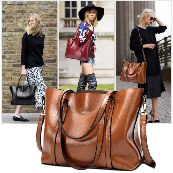 Bag - New Retro Fashion Cowhide Leather Bags