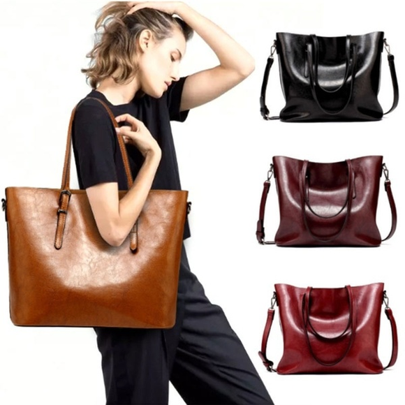 Bag - Retro Fashion Cowhide Leather Bags