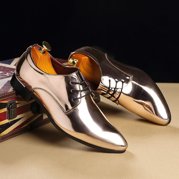 adc1135bb7a2 Shoes - Luxury Brand Men s Patent Leather Dress Shoes – Kaaum
