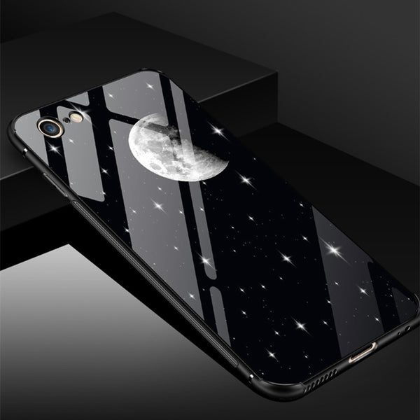 Phone Accessories - Luxury Transparent Tempered Glass Cases For iPhone X 6 6s 7 8 Plus(Buy 2, second one 30% off)